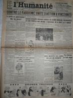 Journal Humanité Parti Communiste 8 Juillet 1934 Action Fascisme Vincennes Amsterdam Tour De France Kalinine - Andere