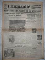Journal Humanité Parti Communiste 9 Juillet 1934 Manifestation Vincennes Gregor Strasser Marin Docker - Andere