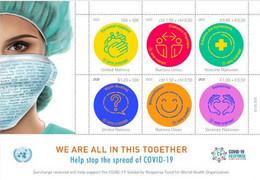 UN, 2020, MNH, HEALTH, COVID-19, SHEETLET - Otros