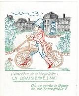 Chromo, étiquette -L' Image Magique, L'ancêtre De La Bicyclette, La Draisienne (1818)  -  Ricisauba - PUB: Sauba - Andere