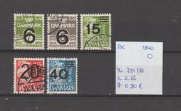 Denemarken 1940 - Yv. 271/75 - Mi. 253/57 Gest./obl./used - Usati