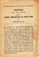 "Dadizeele "" Prière L'image Miraculeuse De Notre Dame - - Santini"