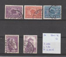 Denemarken 1941-'42 - Yv. 277+278/80+281 - Mi. 264+266/68+278 Gest./obl./used - Usati