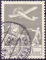 Denemarken 18825 50öre Luchtpostzegel GB-USED - Usati