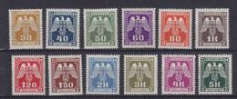 Dt.Bes.2.WK Böhmen & Mähren Dienst MiNr. 13-24 ** - Occupation 1938-45