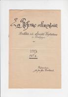 La Réforme Alimentaire - Bulletin Dela Société Végétarienne De Belgique - 1924 (manuscript) - Gastronomie