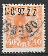 Denmark 1922. Scott #119 (U) King Christian X - Usati