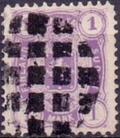 Finland 1877 1mk Lila Perf 12½x12½ GB-USED - 1856-1917 Russische Verwaltung