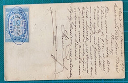 """Paris - Carte Précurseur - N°59 étoile = 24 + T17 Ru De Clery Verso Fiscal = """"reçus"""" - 1849-1876: Klassieke Periode"""