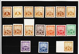 CAO266  TSCHECHOSLOWAKEI 1919 Michl 1/14  PORTO (*) FALZ SIEHE ABBILDUNG - Czechoslovakia