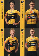 CYCLISME: CYCLISTE : EQUIPE JUMBO WISMA 2020 COMPLETE SOUS BLISTER - Cyclisme