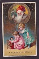 CPA Père Noël Santa Claus Non Circulé Gaufré Embossed - Santa Claus
