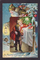 CPA Père Noël Santa Claus Circulé Gaufré Embossed - Santa Claus