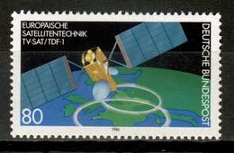 Germany 1986 Alemania / Space Artificial European Satellite MNH Espacio Satélite Europeo / La10  18-50 - Raumfahrt