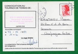 60 VILLERS Sur COUDUN CLUB SPORTS DE RIMBERLIEU  CONVOCATION AU TOURNOIS DE TENNIS Le 23/06/1984 Lire - Tennis