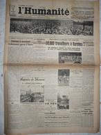 Journal Humanité Parti Communiste 16 Aout 1934 Algérie Garches Moscou Kléber Legay Mineur Révolutionnaire - Andere