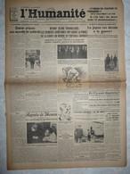 Journal Humanité Parti Communiste 15 Aout 1934 Japon Chéron Moscou Football URSS Leforest Catastrophe Avignon Cheminot - Andere