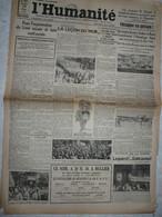 Journal Humanité Parti Communiste 29 Mai 1934 Antifasciste Rassemblement Du Mur Batthou Pozzo Di Borgo Sarre Mermoz - Andere