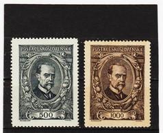 CAO277  TSCHECHOSLOWAKEI CSSR 1920  MICHL  159/60  (*) FALZ  Siehe ABBILDUNG - Czechoslovakia