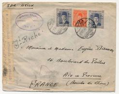 EGYPTE - Enveloppe Affr. Composé - Censure Anglaise - 1945 - Covers & Documents