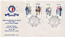 Malta Set On FDC - Policia – Guardia Civil