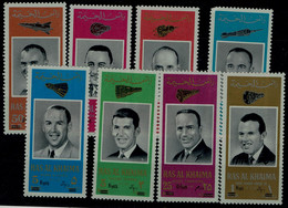 RAS AL KHAIMAH 1966 SPACE AMERIKANISCHE ASTRONAUTEN MI No 48-55 MNH VF!! - Raumfahrt
