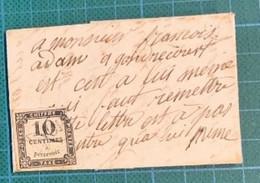 Meuse - Gondrecourt - Vers 1860 - Taxe N°2 (défectueux) Oblitéré OR -boîte Rurale I/2 - Oblitération OR Cote 475€ - 1849-1876: Klassieke Periode