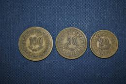 Maroc 1960 Pièces 20-50-100 - Marocco