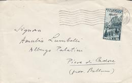 Trieste Zone A AMG-FTT 1953, Cortina D'Ampezzo L25 On Letter - Marcophilia