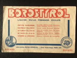 Buvard Publicitaire Médical BOROSTYROL - Produits Pharmaceutiques