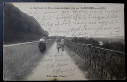 CPA - ST GERMAIN EN LAYE (78) - Terrasse De St Germain-en-Laye, Vue Sur Carrières-sous-Bois - St. Germain En Laye (Castillo)