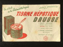 Buvard Publicitaire Médical Tisane Hépatique DAUSSE - Produits Pharmaceutiques