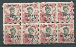 CANTON YVERT N° 78 (*)   Bloc De 8    , Ai29902 - Unused Stamps