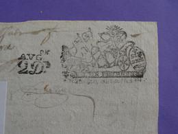 """1690 Généralité De BOURGES Papier Timbré N°70 De """"SIX DEN. + Augmentation 2D"""" Quart De Feuille - Gebührenstempel, Impoststempel"""
