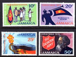 JAMAICA - 1978 CHRISTMAS SALVATION ARMY SET (4V) FINE MNH ** SG 456-459 - Jamaica (1962-...)