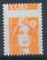 Variété - YT 2620 Marianne De Briat  1.00 Orange Piquage à Cheval (Maury: 2791d) Neuf**  Cote Maury 85€. - Abarten: 1990-99 Ungebraucht