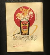 Protège-cahier - Publicité Moutarde DESSAUX FILS Au Fameux Vinaigre - TBE - Produits Pharmaceutiques