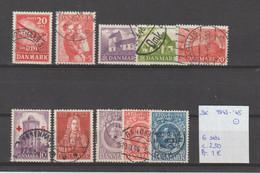 Denemarken 1943-'45 - Yv. 291 Tot 300 - Mi. 279 Tot 288 Gest./obl./used - Usati