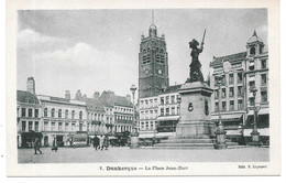 Cpa Dunkerque - La Place Jean-Bart - Dunkerque