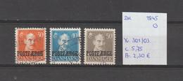 Denemarken 1945 - Yv. 301/03 - Mi. Pakket 28/30 Gest./obl./used - Usati