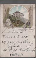 Gruss Vom Hochschar  ŠerákGeorgs Schutzhaus Vorläufer  Litho Gelaufen 1895 - Sudeten
