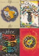 Jazz In Marciac - Lot De 8 Cartes Postales - Musik Und Musikanten