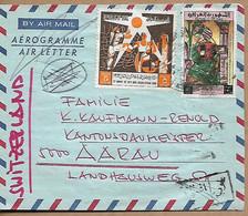 IRAQ 1964 AEROGRAMME Sent To Suisse 2 Stamps AEROGRAMME USED - Iraq