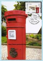 PORTUGAL - MADEIRA EUROPA 2020 CEPT POSTAL HISTORY MAIL BOX MAXIMUM CARD - Maximumkaarten
