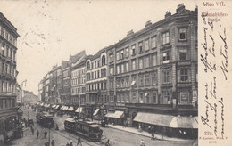 AK - Wien VII. -  Mariahilferstrasse Mit Geschäften Und Strassenbahnen 1906 - Other