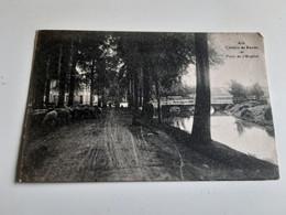 ATH Chemin De Ronde Et Pont De L'hôpital Obl 1924 (moutons) - Ath