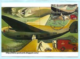PORTUGAL - AÇORES AZORES EUROPA 2020 CEPT POSTAL HISTORY MAIL AIRCRAFT MAXIMUM CARD - Maximumkaarten