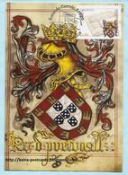 PORTUGAL - EUROPA 2020 CEPT POSTAL HISTORY MAIL COAT OF ARMS MAXIMUM CARD - Maximumkaarten