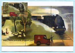 PORTUGAL - EUROPA 2020 CEPT POSTAL HISTORY MAIL TRAIN MAXIMUM CARD - Maximumkaarten