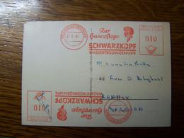 ALLEMAGNE - 1961 - EMA Zur Haarpflege: SCHWARZKOPF WASSERTRÜDINGEN/MFR - Sur Carte Postale - Covers & Documents